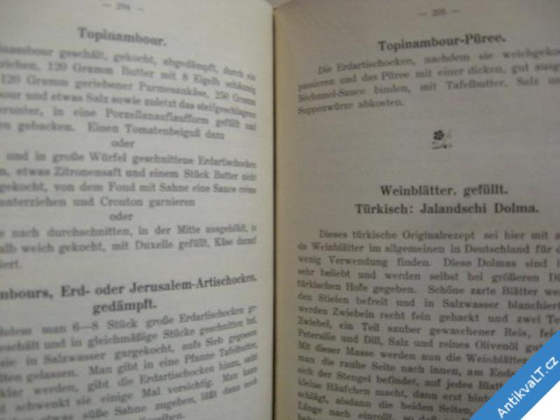 foto    DER GOURMET FÜR WILD GEFLÜGEL GEMÜSE FRÜCHTE..1914