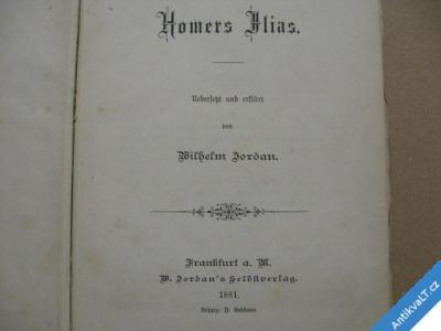 foto    HOMERS JLIAS W. Jordan 1881 Frankfurt a. M.