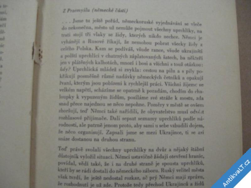 foto    Falta Josef PŘES FRONTY A PŘES HRANICE 1943 USA