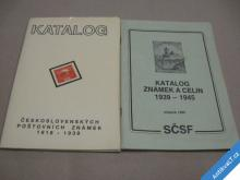 DVA KATALOGY ZNÁMEK ČESKOSLOVENSKÝCH 1918-1945