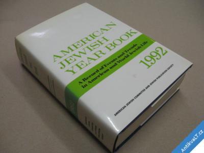 foto    AMERICAN JEWISH YEAR BOOK 1992