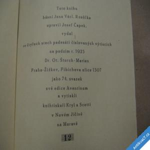 foto Rosůlek Jan ROZMARÝN 1923 Čapek Josef čísl. 12