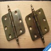 MASIVNÍ PANTY MOSAZ MĚĎ ANTIK 12 cm 2 ks ( celkově skladem 15 párů )