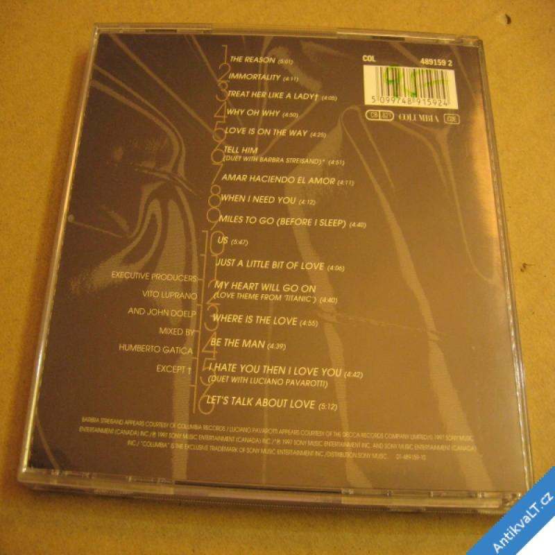 foto Celine Dion LET´S TALK ABOUT LOVE 1997 Columbia