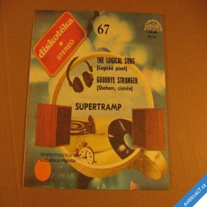 foto Supertramp THE LOGICAL SONG, GOODBYE STRANGER 1984 SP stereo