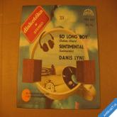 Lyne Danis SENTIMENTAL, SO LONG BOY 1980 SP stereo