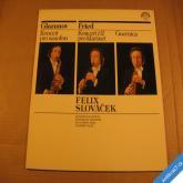 Slováček F. KONCERT GLAZUNOV, FRIED saxofon a klarinet 1980 LP