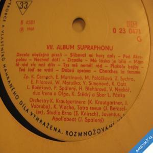 foto ALBUM SUPRAPHONU VII. 1968 Martinová, Gott, Pilarová... mono EP