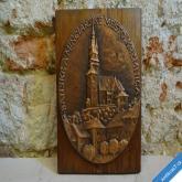 BANSKÉ MINCIARSKE MESTO KREMNICA VELKÁ PLASTIKA / PLAKETA 25 cm