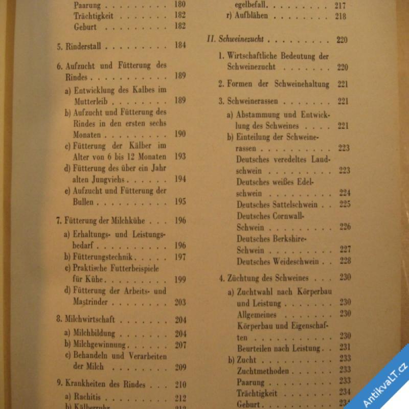 foto TIERZUCHTLEHRE - UČEBNICE CHOVU A PÉČE O ZVÍŘATA 1957 kolektiv Berlin