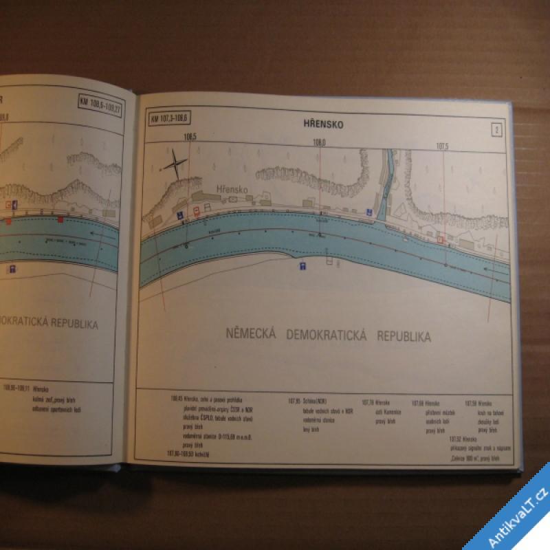 foto PLAVEBNÍ MAPA LABE MĚLNÍK - HŘENSKO 1978 Kartografie Praha