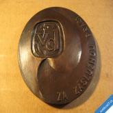 PLAKETA - VÝROBNÍ DRUŽSTVO TVAR PARDUBICE 5 cm za zásluhu
