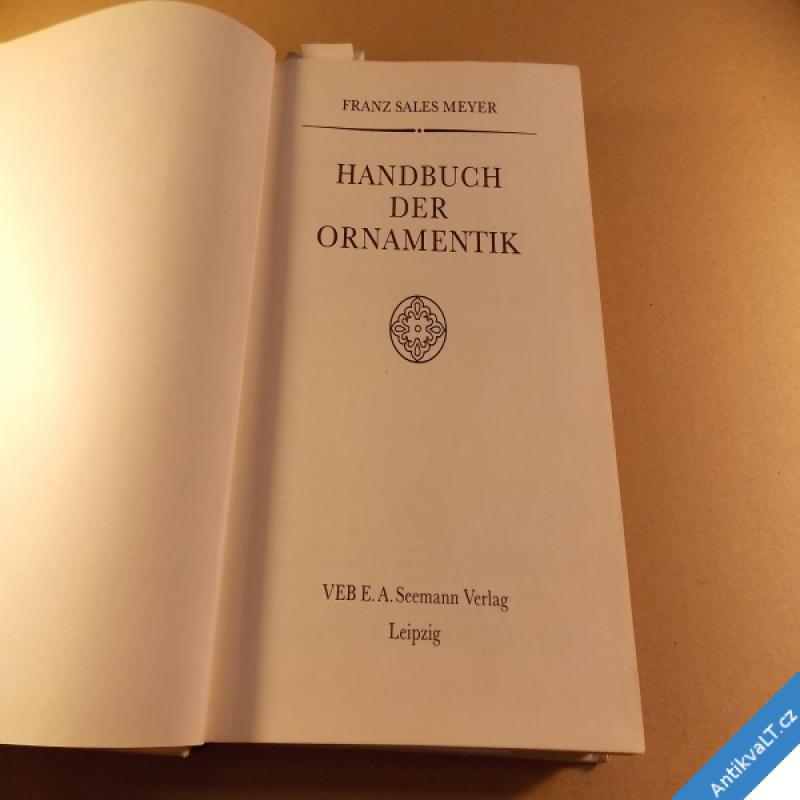 foto Meyer F. S. Handbuch der Ornamentik 1986 Německo
