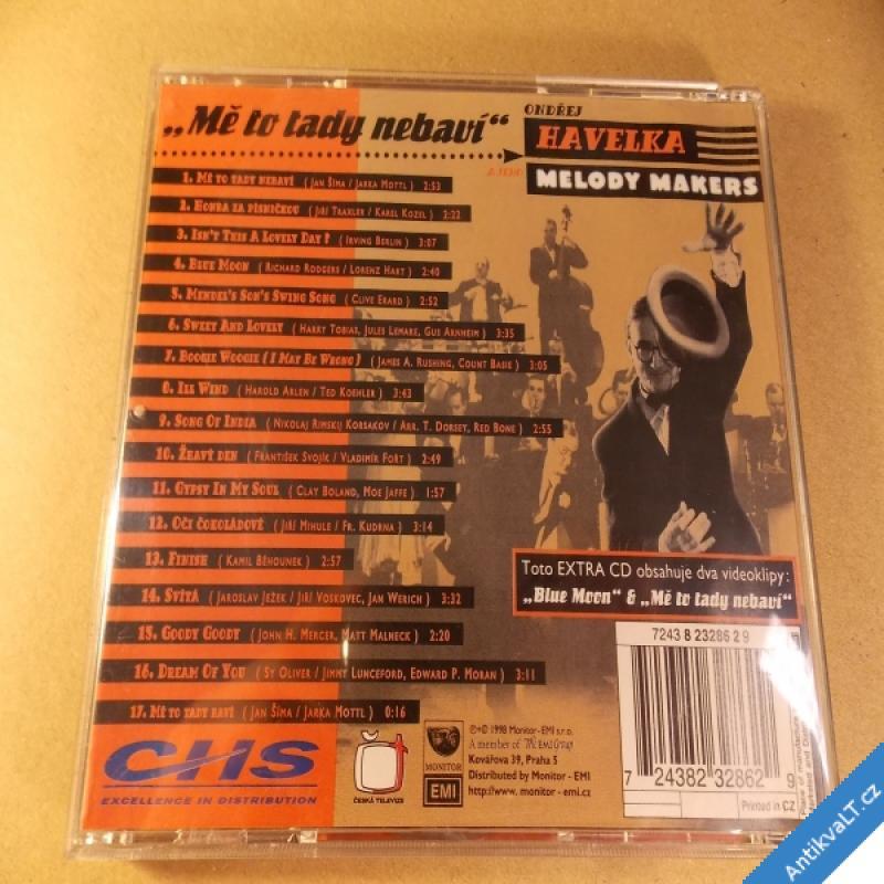 foto Havelka Ondřej & Melody Makers MĚ TO TADY NEBAVÍ 1998 CD Monitor EMI