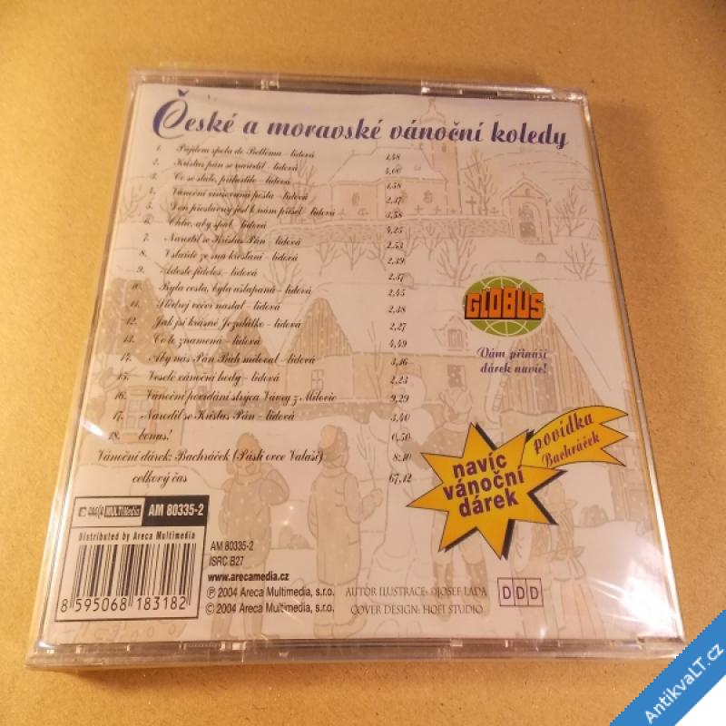 foto ČESKÉ A MORAVSKÉ VÁNOČNÍ KOLEDY 2004 CD Areka nerozbaleno