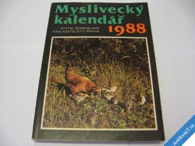 foto    MYSLIVECKÝ KALENDÁŘ 1988 SZN