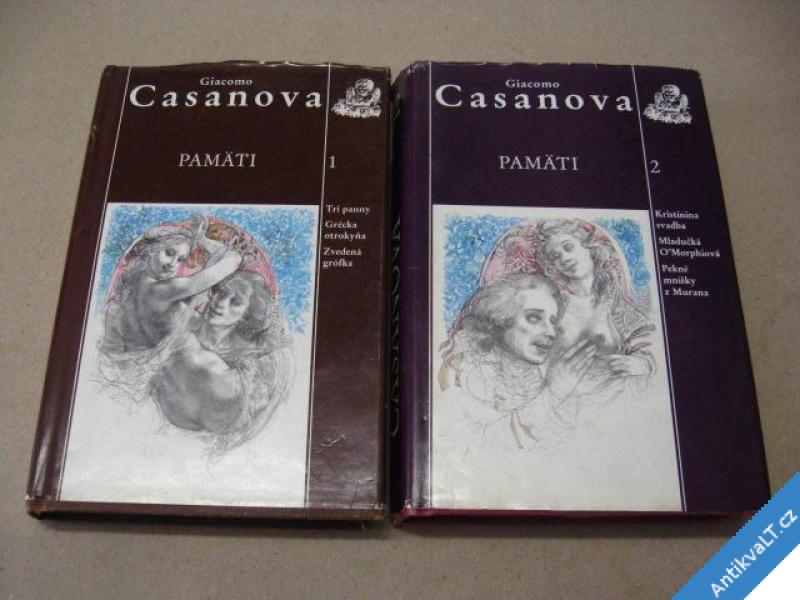 foto    CASANOVA GIACOMO PAMÄTI I. II. SLOVENSKY 1990