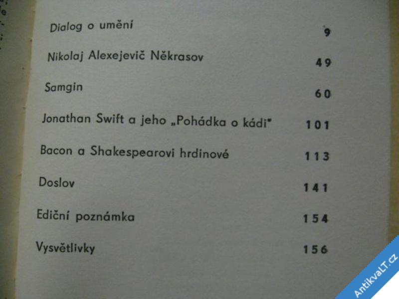 foto    UMĚNÍ JE ŽIVÉ  LUNAČARSKIJ A. V. 1958