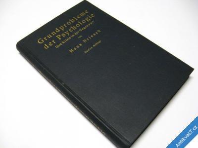 foto    GRUNDPROBLEME DER PSYCHOLOGIE  DRIESCH H.  1929