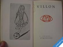 VILLON Prokletí básníci sv. 1. Fischer O. Tichý F.