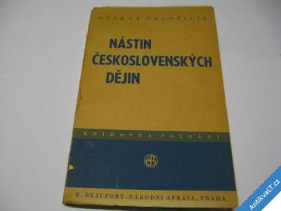 foto    NÁSTIN ČESKOSLOVENSKÝCH DĚJIN  ODLOŽÍLEK O. 1946
