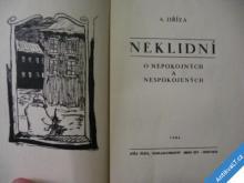 DŘÍZA ANTONÍN  NEKLIDNÍ  JOŽA JÍCHA 1934