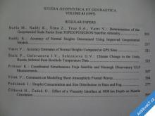 STUDIA GEOPHYSICA A GEODAETICA AV ČR 1997/3 R. 41
