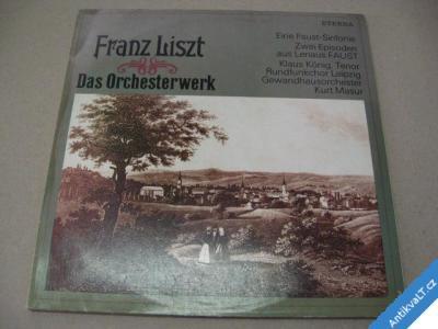 foto    LISZT FRANZ DAS ORCHESTERWERK KÖNIG K. TENOR 2 LP