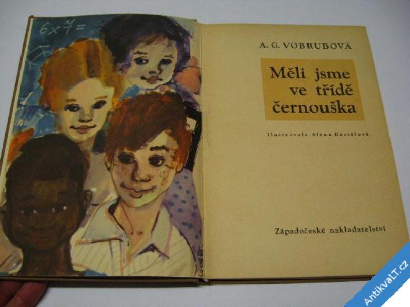 foto    MĚLI JSME VE TŘÍDĚ ČERNOUŠKA  VOBRUBOVÁ A. G. 1966