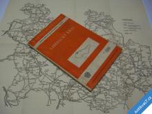 LIBERECKÝ KRAJ PRŮVODCE MAPA SILNIČNÍ SÍTĚ  1956
