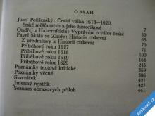 HISTORIE O VÁLCE ČESKÉ 1618-1620  ŽIVÁ DÍLA 1964